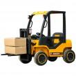 New 12 Volt Forklift Yellow With 2 x 35 Watt Motors In Stock -0