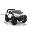 New 2021 Licensed White Toyota Hilux Kids Ride on Car Toy with Parent remote 4 motors and 2 seater