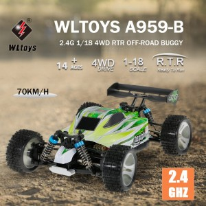 WLtoys A959-B Buggy 4 Wheel Drive 1:18 70 km/hr