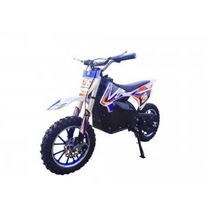 Blue Electric Dirt Bike with Black Frame 36V 500 Watt Motor In Stock