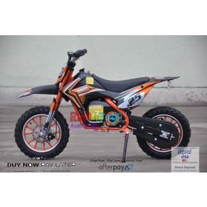 Orange Electric Dirt Bike 36V 500 Watt Motor In Stock