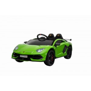 Green Licensed Lamborghini Aventador SVJ 12V