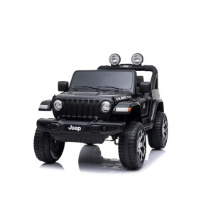 New Licensed Jeep Rubicon Painted Black Ride On Car