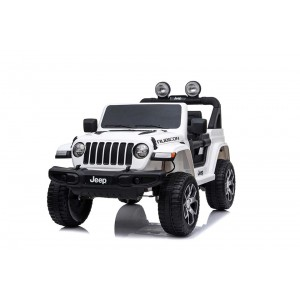 New Licensed Jeep Rubicon White Ride On Car