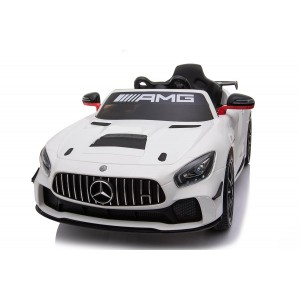 White Licensed Mercedes Benz GT4 AMG Special Sports Edition 2 x 35 Watt Motors