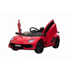 Red Licensed Lamborghini Aventador SVJ 12V