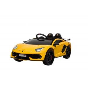 Yellow Licensed Lamborghini Aventador SVJ 12 Volt In Stock