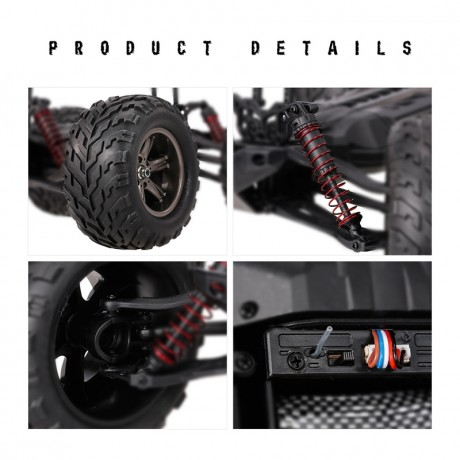 Blue S9115 Off Road Truck ,1/12 Scale RC Car 2.4Ghz 2WD High Speed Remote Controlled-4