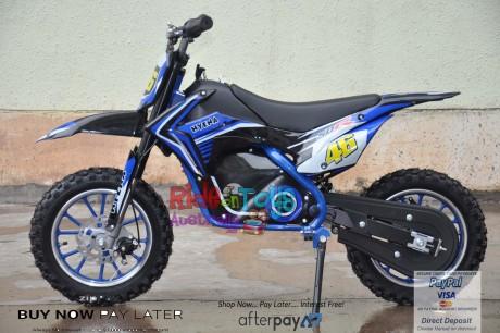 Blue Electric Dirt Bike 36V 500 Watt Motor In Stock -4