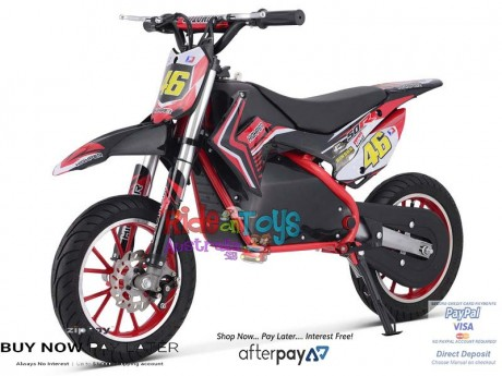 Red Electric Dirt Bike 36V 500 Watt Motor In Stock -1