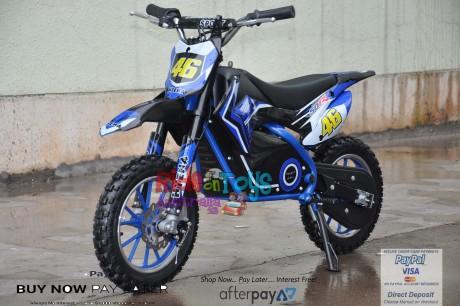 Blue Electric Dirt Bike 36V 500 Watt Motor In Stock -1