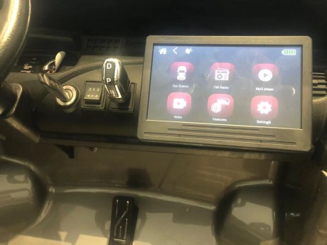 New 2021 Licensed Painted Metallic Grey Toyota Hilux With 7 Inch MP4 Touch Screen In Stock -4