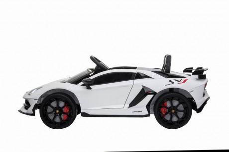 White Licensed Lamborghini Aventador SVJ 12V -2