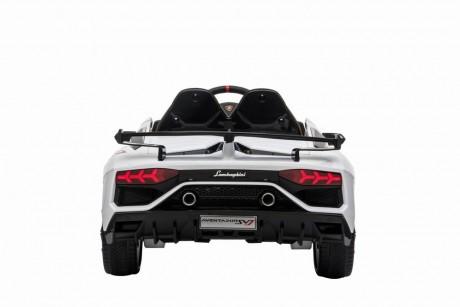 White Licensed Lamborghini Aventador SVJ 12V -5
