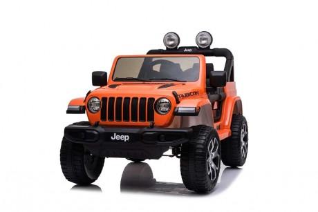 2019 Licensed Jeep Rubicon Orange  Kids Ride on Car 12 volt