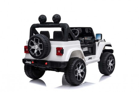 Licensed White Jeep Rubicon kids electric car