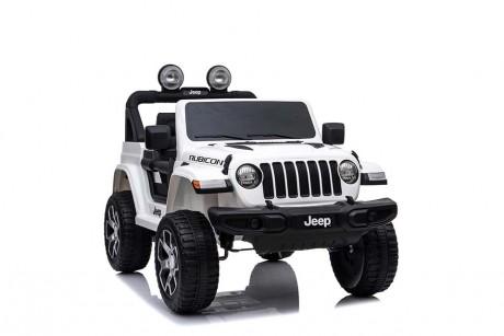 Kids Ride on Car white Jeep Rubicon