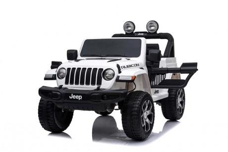 Kids Ride on Car white Jeep Rubicon 4 wheel drive