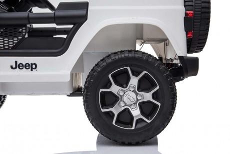 Kids Ride on Car white Jeep Rubicon Suspension