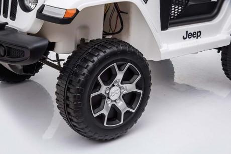 Kids Ride on Car white Jeep Rubicon rims