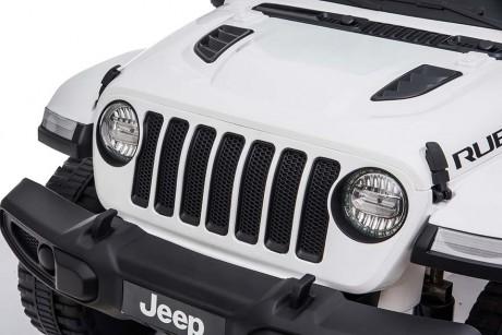 Kids Ride on Car white Jeep Rubicon Spot light