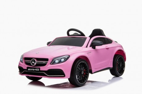 Ride on car Kids Mercedes  C63 AMG Pink Ship to  Perth