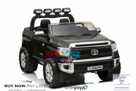 Licensed Toyota Tundra 24 volt Painted Black and Parent remote -7