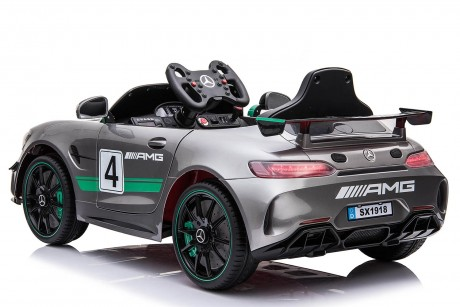 Painted Grey Licensed Mercedes Benz GT4 AMG Special Sports Edition 2 x 35 Watt Motors -5