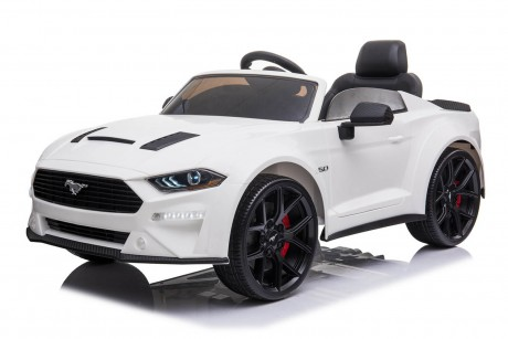 New Licensed 2021 Drift Ford Mustang in White 24Volt With Parent Remote In-Stock-1