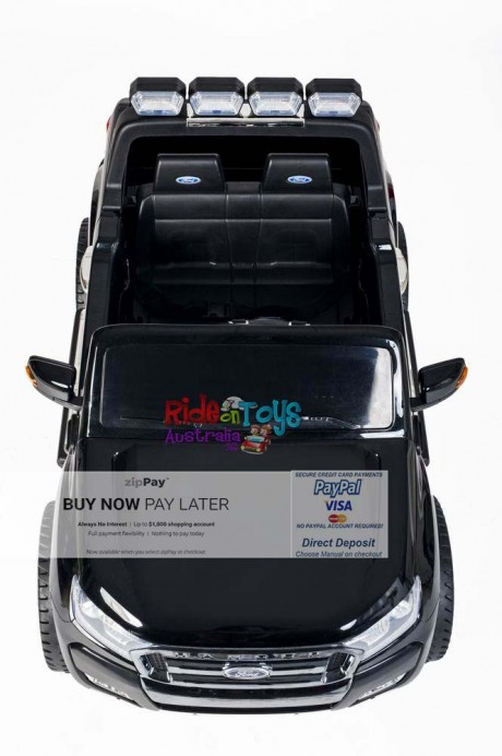 Licensed-Ford-Ranger-KIds-Ride-On-Toy-Car-12Volt-24Volt-Parent-Remote-Touch Screen-4 motors-Shipping—Postage-Black-Hobart-Vic