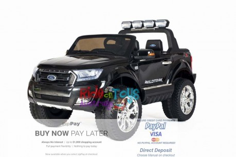 Licensed-Ford-Ranger-KIds-Ride-On-Toy-Car-12Volt-24Volt-Parent-Remote-Touch Screen-4 motors-Shipping—Postage-Black-Adelaide-South Australia-SA