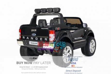 Licensed-Ford-Ranger-KIds-Ride-On-Toy-Car-12Volt-24Volt-Parent-Remote-Touch Screen-4 motors-Shipping—Postage-Black-Darwin-Alice Springs-Northen Territory-NT