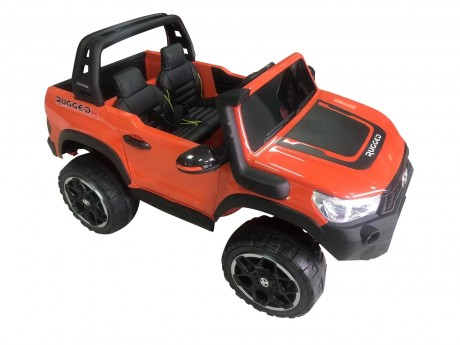 Licensed Painted Metallic Orange Toyota Hilux Kids Ride on Car Toy with Parent remote 4 motors and 2 seater Licensed Painted Metallic Orange Toyota Hilux