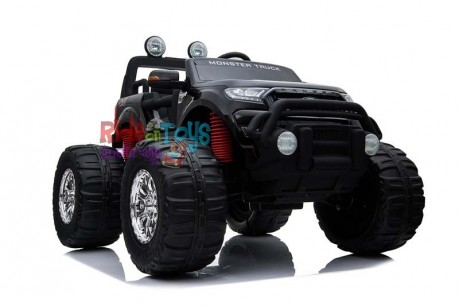 Licensed-Ford-Ranger-Monster Truck-Monster Jam-KIds-Ride-On-Toy-Car—Electric-Motorised-12Volt-24Volt-Parent-Remote-Touch Screen-4 motors-Shipping—Postage-Painted—Black-Melbourne-Victoria-Vic