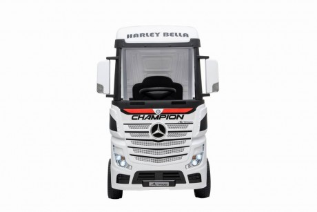 White Licensed MERCEDES-BENZ ACTROS TRUCK Ride On Car-1