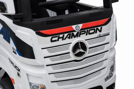 White Licensed MERCEDES-BENZ ACTROS TRUCK Ride On Car-8