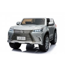 Licensed Lexus LX- 570 Painted Metallic Silver 12Volt With 4x Motors MP4 Touch Screen Parent Remote Ride On CAR