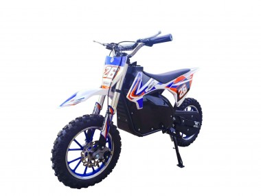 Pre- Order Blue Electric Dirt Bike with Black Frame 36V 500 Watt Motor ETA 20/10/2020