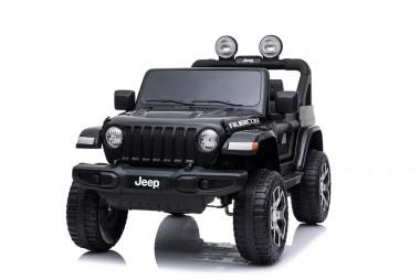 2019 Licensed Jeep Rubicon Black Kids Ride on Car 12 volt