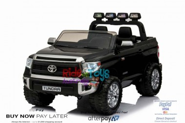 Pre-Order Licensed Toyota Tundra 24 volt Painted Black and Parent remote 11/11/19