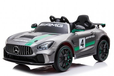 Painted Grey Licensed Mercedes Benz GT4 AMG Special Sports Edition 2 x 35 Watt Motors