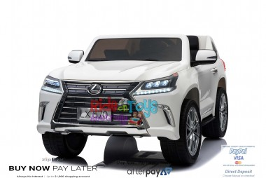 Licensed Lexus LX- 570 White 12Volt With 4x Motors MP4 Touch Screen Parent Remote Ride On CAR