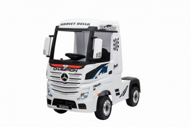 White Licensed MERCEDES-BENZ ACTROS TRUCK Ride On Car