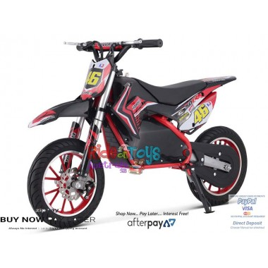 Pre Order Red Electric Dirt Bike 36V 500 Watt Motor 26/11/2018