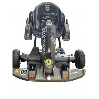 Grey Electric Go Kart with F Stickers 54 Volt with 2 x 350 Watt motors