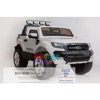 Licensed-Ford-Ranger-KIds-Ride-On-Toy-Car-12Volt-24Volt-Parent-Remote-Touch Screen-4 motors-White--Shipping—Postage-Adelaide-South Australia-SA