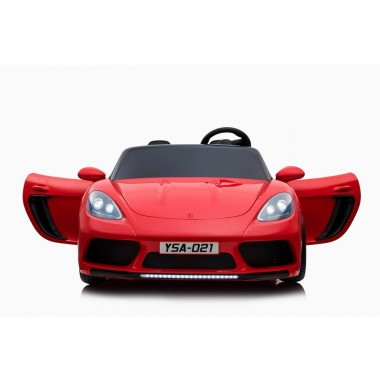 Custom - Order Large Car Porsche Replica Painted Red 24volt XXL 2 Seater